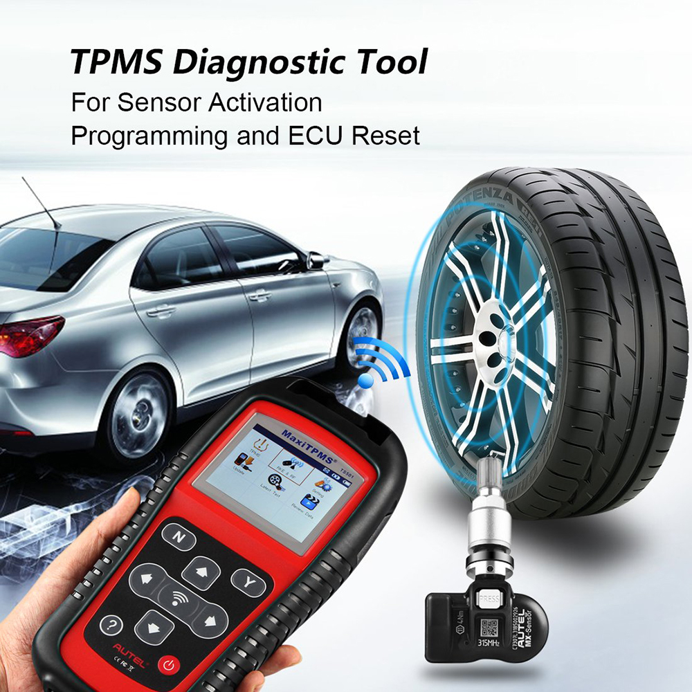 Image 3 - AUTEL Tire Pressure gauge sensors tool MaxiTPMS TS501 TPMS Diagnostic Tool Service  Auto Scan Tool OBD2 Car Scanner Relearn-in Pressure & Vacuum Testers from Automobiles & Motorcycles on