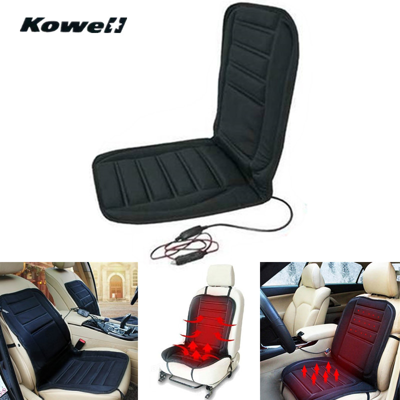 KOWELL Universal 12V 40-60 Degree Winter Car Seat Heated Cushion Cover Case Temperature Adjustable Heater Driver Warmer Support