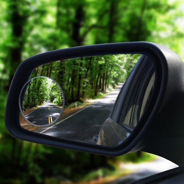 Round convex blind spot rearview mirror sticker 360 degree frameless ultrathin wide angle for volkswagen vw