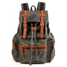 Winter Waterproof Wax Canvas Laptop School Bags for Teenage Men High Quality Travel Backpacks Stylish College Sporty Rucksack