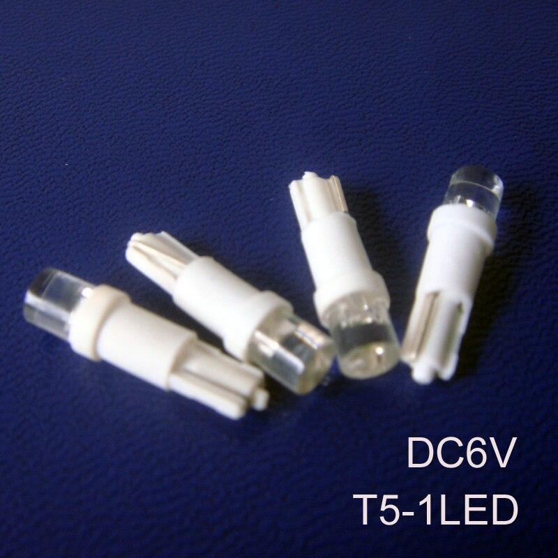 High quality 6V T5 led indicator light,car T5 led pilot lamp 6.3v led T5 bulbs w3w Led Indicator Lamp free shipping 10pcs/lot