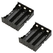 40pcs/lot MasterFire Black Plastic 3 x 3.7V 18650 Batteries 6 Pin Battery Storage Box Holder Case Cover