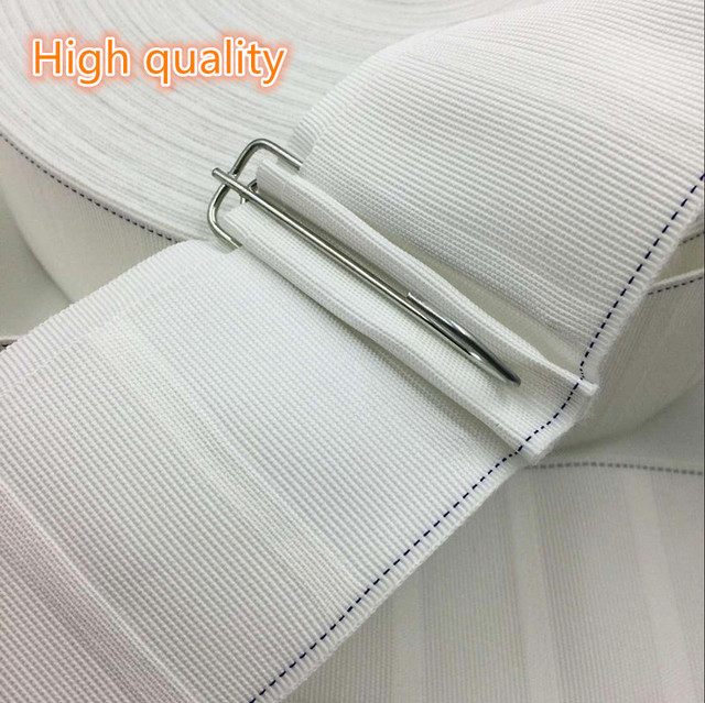 10 M/roll Curtain hook cloth tape curtain accessories white cloth ...