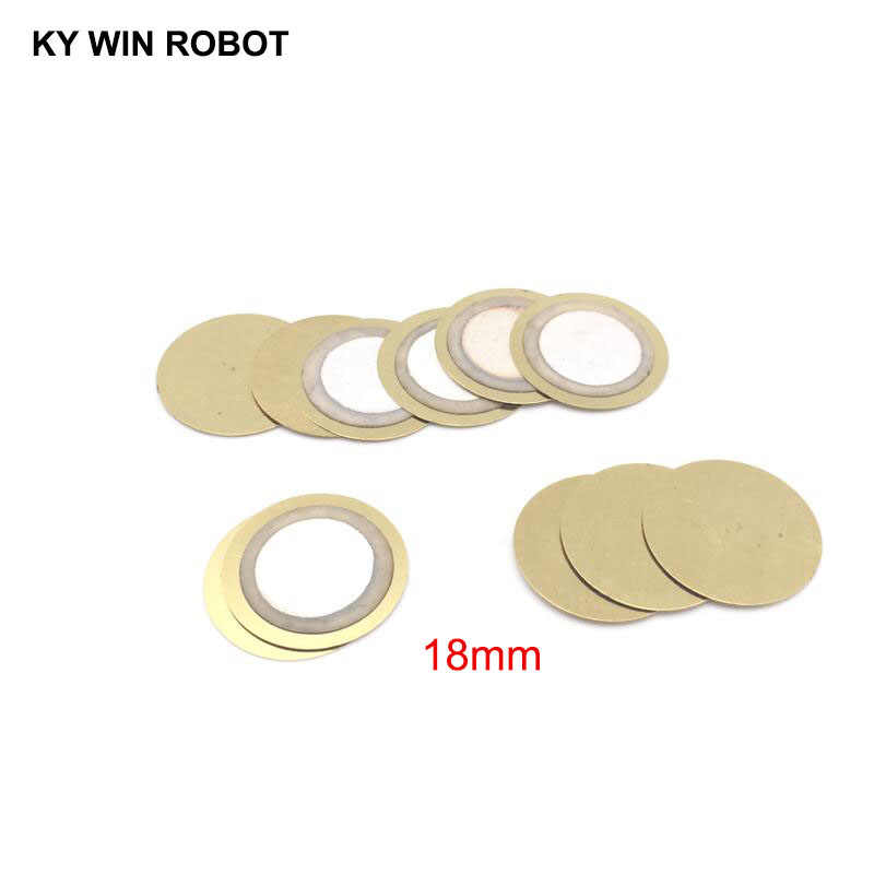100 Pcs/Lot Piezoelectric Piezo Ceramic Wafer Plate Buzzer Loudspeaker Dia 18mm For Arduino Diy