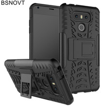 For LG G6 Case Soft TPU +Hard Plastic Phone Holder Anti-knock Case For LG G6 Cover For LG G6 Case H870 H873 H870DS Funda BSNOVT аксессуар чехол brosco для lg g6 black lg g6 book black