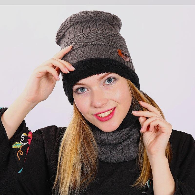 Boys And Gilrs Unisex Winter Hat Knit Scarf Cap Winter Hats for Men Caps Warm Fur   Skullies     Beanie   Bonnet Hat Women Winter Hats