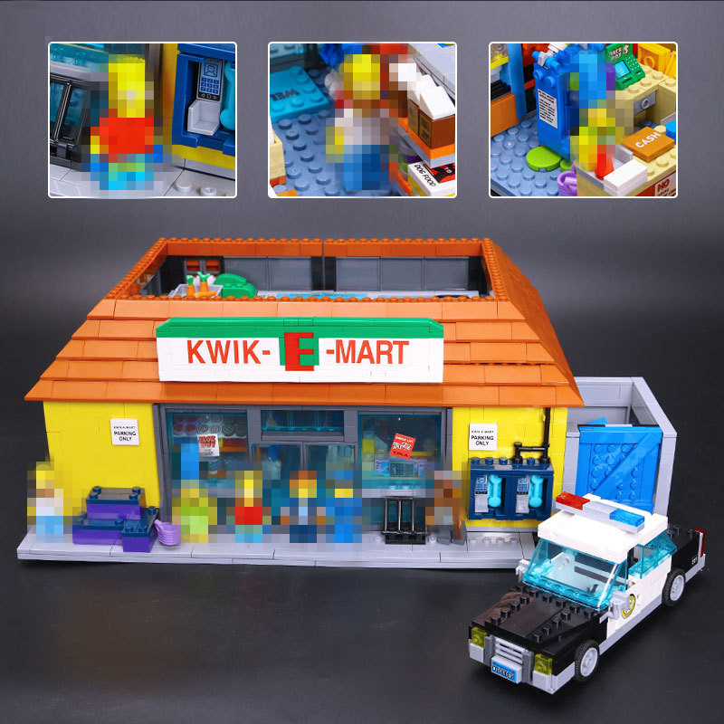 Lepin 16004 Simpson KWIK-E-MART Model set Building Blocks Bricks Model Assembling Toys Compatible With 71016 Educational Toys black pearl building blocks kaizi ky87010 pirates of the caribbean ship self locking bricks assembling toys 1184pcs set gift