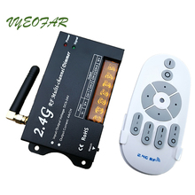 New 2.4G RF Remote wireless DC12-24V multi channel 4A/CH 4CH led dimmer white remote for led strip 5630/7020/5050/ SMD new dm16 led dimmer 2 4g rf remote dc12 24v 4 zone multi channel 4a ch 4ch wireless rf remote for led strip dimmer 12v