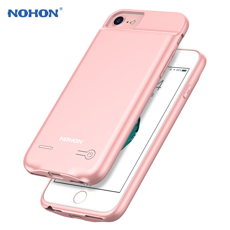 NEW NOHON Backup External Battery Case For iPhone 7 6S 6 Portable Battery Mobile Phone Charger Case 2500mAh Rechargeable Cover on AliExpress