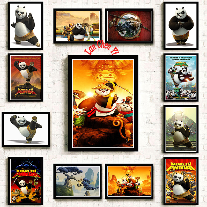 Kung Fu Panda Coated paper poster Office Gift Room Dining Home Decor wall sticker Design