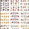 10X Folha Maior/Lot (11 PROJETOS EM 1) bebê Mickey Minnie Mouse # Dos Desenhos Animados de Transferência de Água Da Arte Do Prego Adesivo Decalque #488-498
