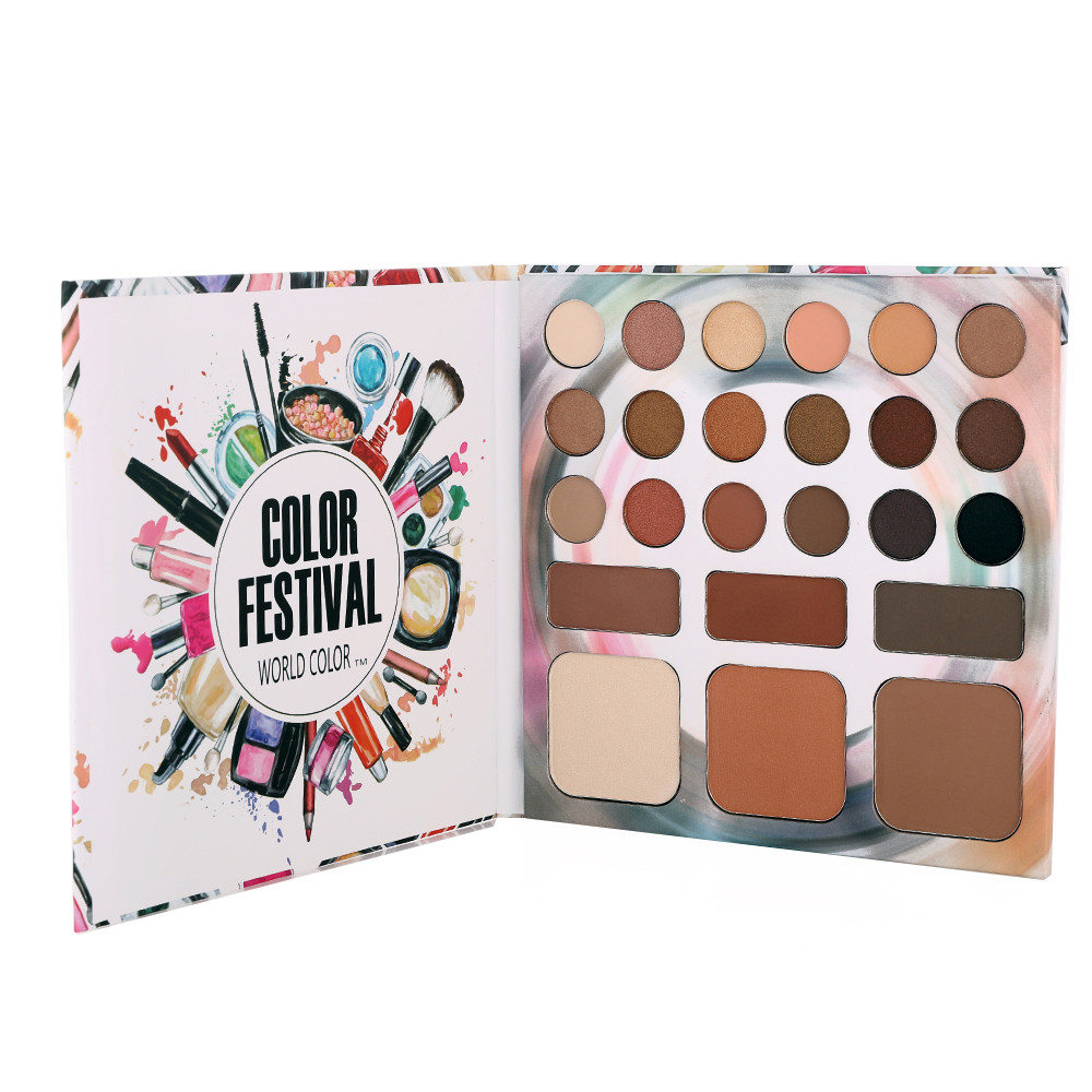 24 Colors Matte Eyeshadow palette Shimmer Pigmented Eye Shadow Shading Power  And Highlighter Power Palette Cosmetic Maquiagem