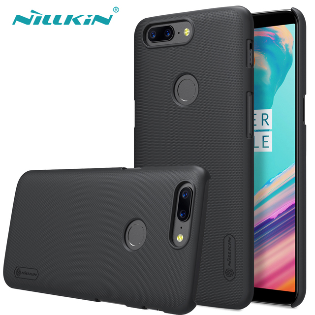 OnePlus 5/5T Case Nillkin Frosted Shield Hard Plastic Back Cover Case for OnePlus5 A5000 (5.5inch) 5T 6.01 Gift Screen Protector