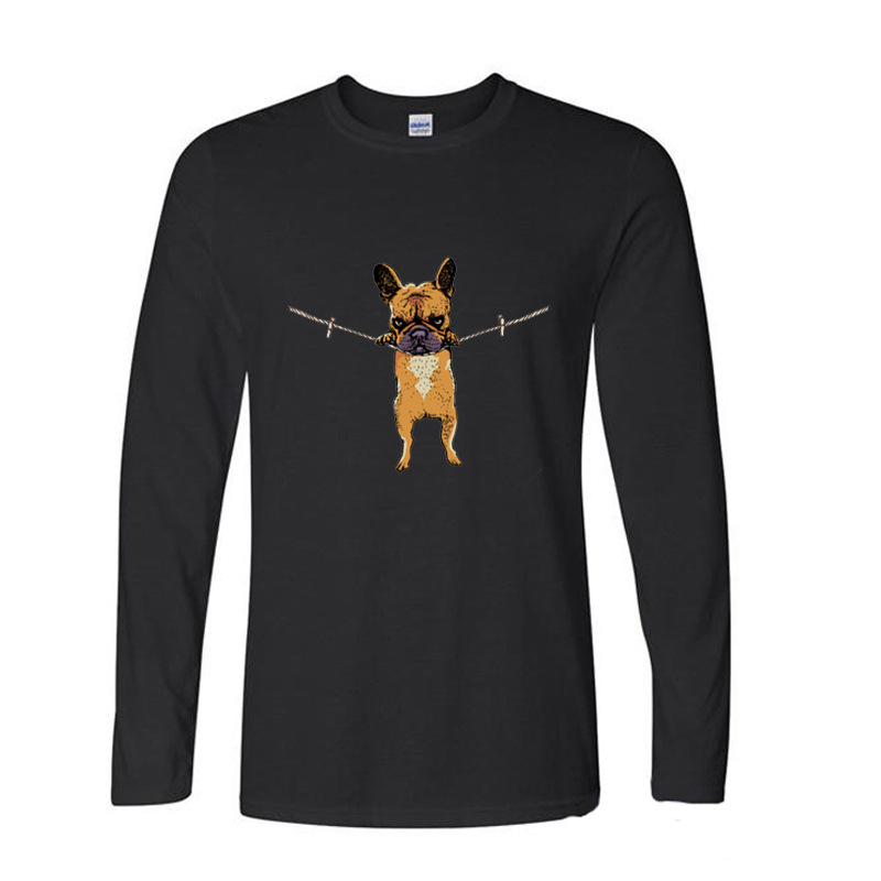 2017 Funny Graphic Funny French Bulldog in there Baby funny long sleeve t shirt men - intl