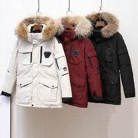 Новое зимнее качественное утепленное пуховое пальто для влюбленных, Южная Корея, военный пуховик, Длинные уличные мужские пальто, куртка