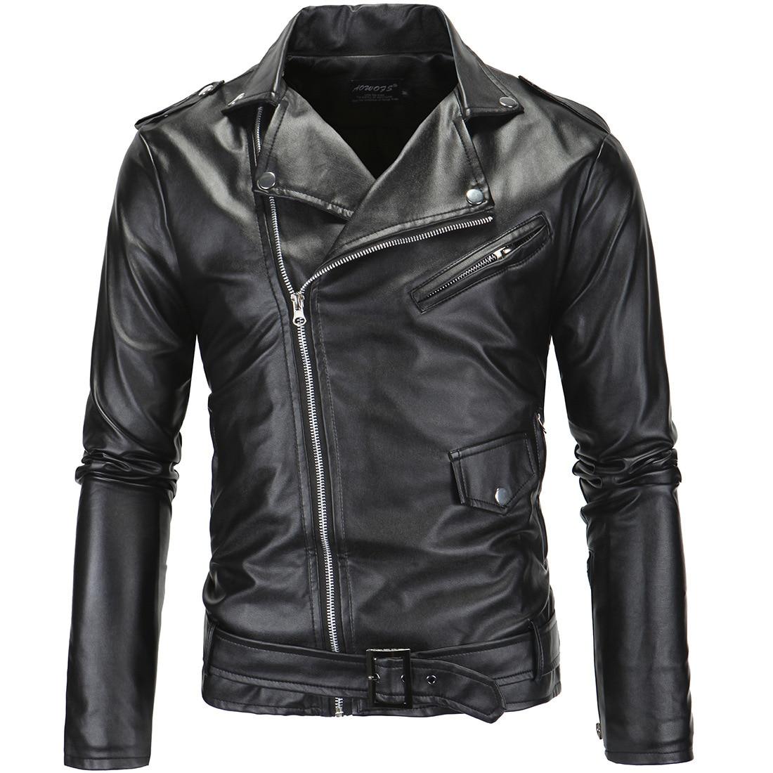 Новинка 2018 года локомотив тонкий кожаный для мужчин кожаные куртки Британская мода куртка