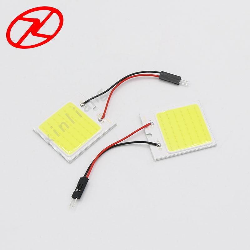 2бр Бял COB чип 48 smd LED интериор на - Автомобилни светлини - Снимка 3