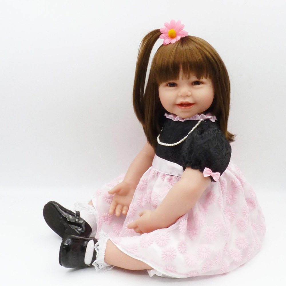 60cm Silicone Reborn Baby Doll Toys Like Real Vinyl Princess Toddler Babies Dolls Girls gift bebes reborn Bonecas juguetes60cm Silicone Reborn Baby Doll Toys Like Real Vinyl Princess Toddler Babies Dolls Girls gift bebes reborn Bonecas juguetes