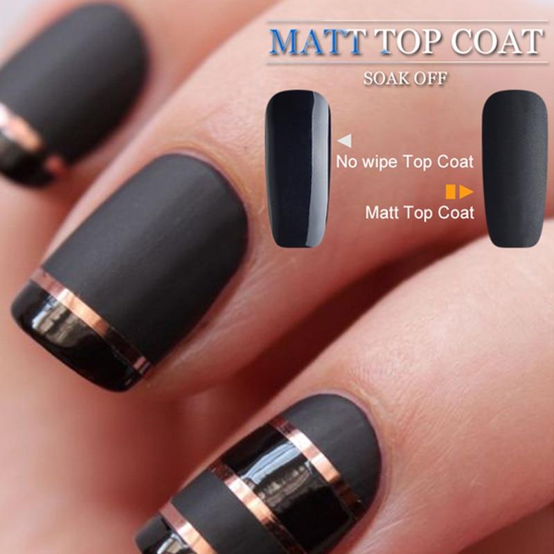 Matt UV LED Nail Gel Polish Soak Off Matted Gel Lacquer Acrylic Nail ...