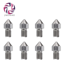 5pcs/lot MK8 V5 V6 Stainless Steel Nozzle 0.3mm 0.4mm 0.5mm M6 Threaded Part For Extruder 3D Printers Parts 1.75mm 3mm Filament