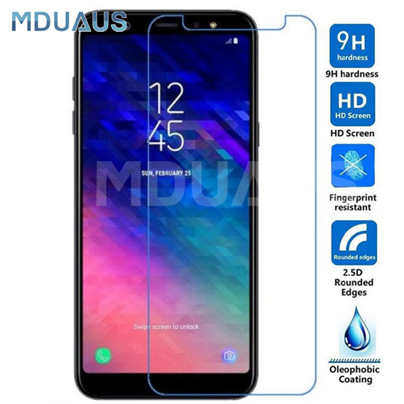 Premium Tempered Glass On The For Samsung Galaxy A3 A5 A7 2015 2016 2017 A6 A8 A9 2018 Screen Protector Protective Glass Film