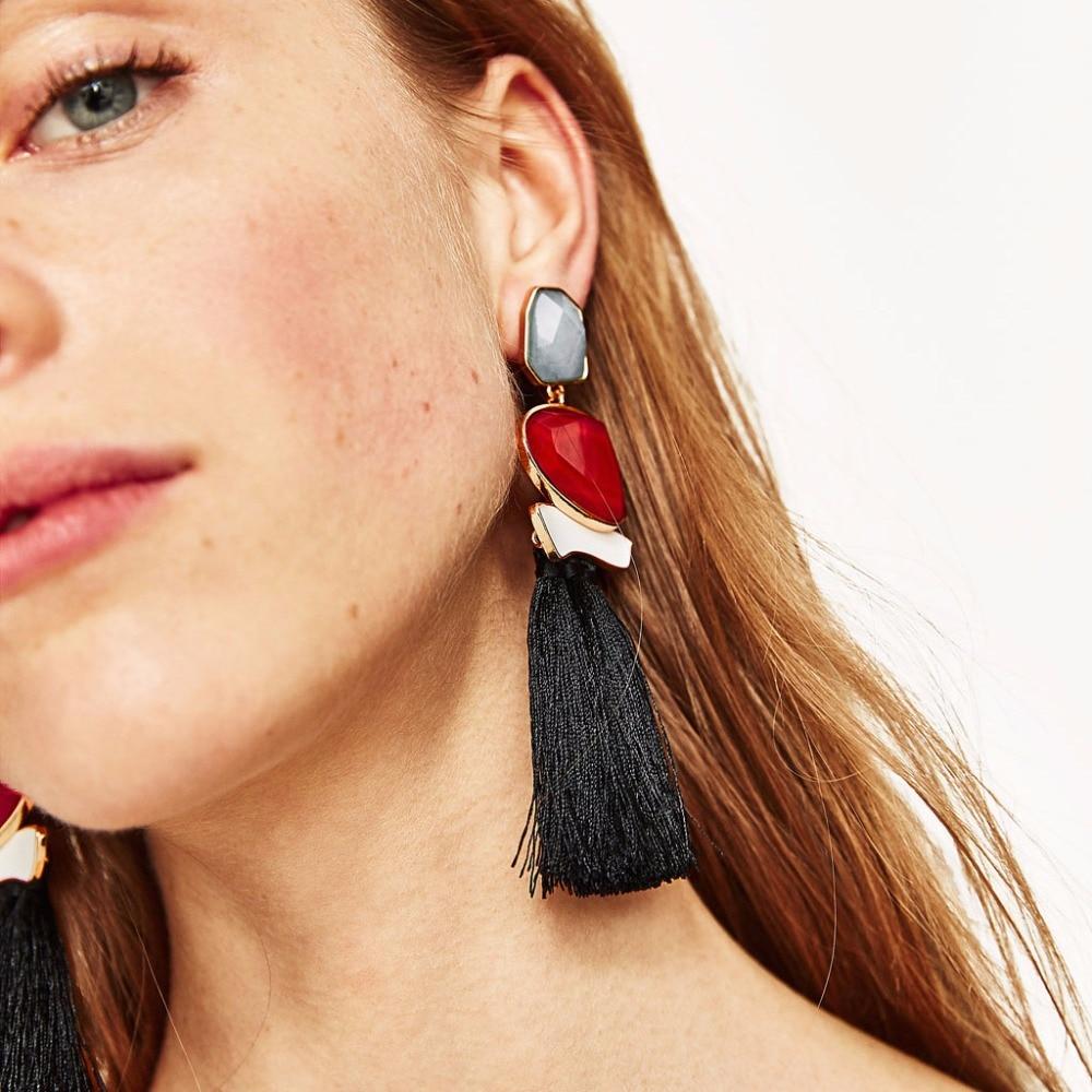 Boho Кольорові сережки для жінок - Модні прикраси - фото 2