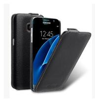 Up and Down Flip Case For Samsung Galaxy S7 Case Cover For Samsung Galaxy S7 edge Genuine Leather Phone cases classic black