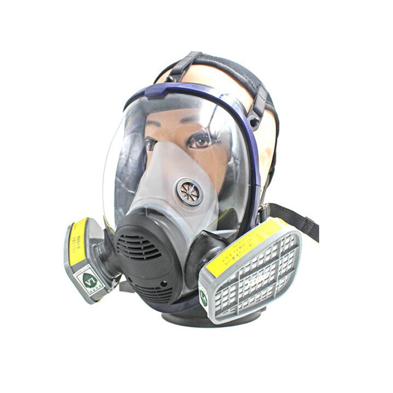 Super Viewing Gas Mask With Two No 7 Filter Cartridges Chemical Organic Vapor Cartridge Mask Filter