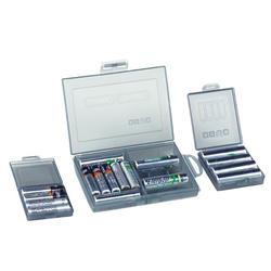 Прозрачный горячий портативный жесткий пластиковый корпус батареи держатель батареи коробки для хранения батарей S/M/L