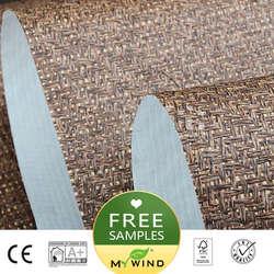 2019 MIJN WIND natuurlijke grijs Luxe Behang Papier weave grasscloth 3D wallpapers ontwerpen vintage muur papers classic home decor