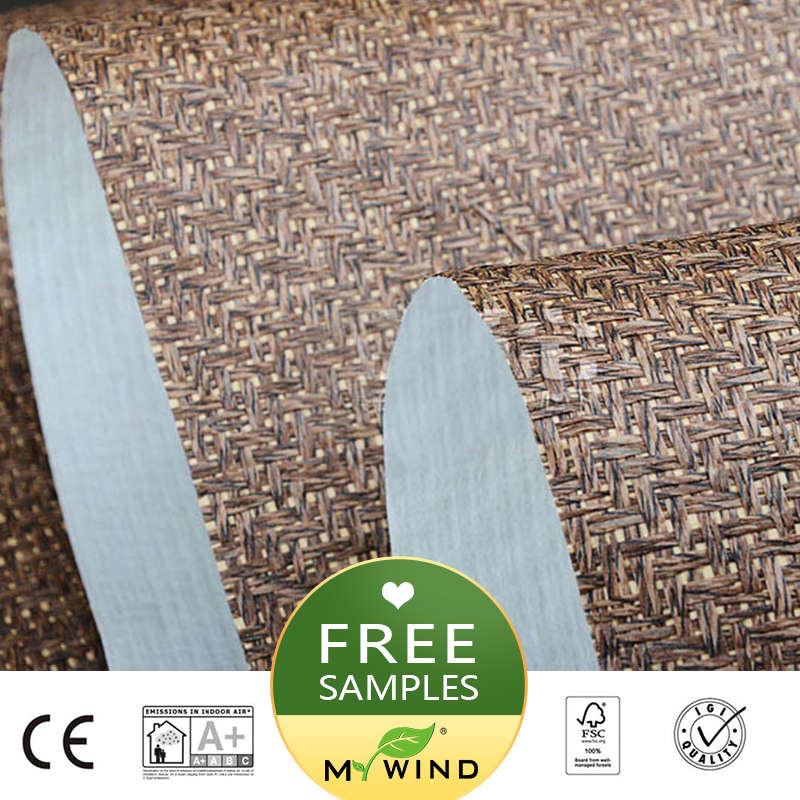 2019 MY WIND Natural Grey Luxury Wallpaper Paper Weave Grasscloth 3D Wallpapers Designs Vintage Wall Papers Classic Home Decor