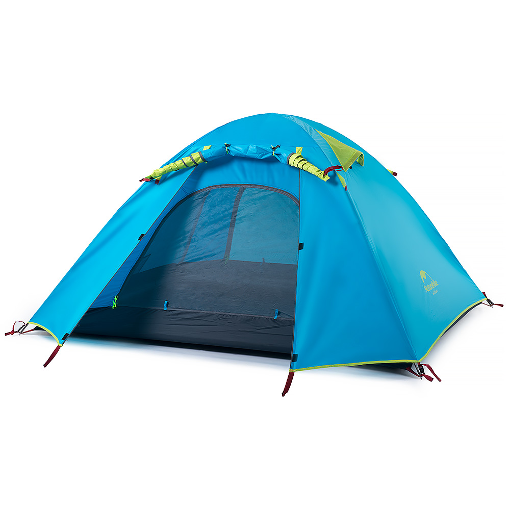 Naturehike-NH double waterproof outdoor camping tent, two people, three quarters of aluminum pole tent