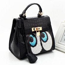 Woman Leather Designer Brand Handbag Fashion Big Eyes Women Messenger Bags Clutch Shoulder Bags High Quality Leather Bolsos