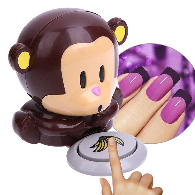1 unids lindo mini dibujos animados mono secador de uñas del dedo de ...