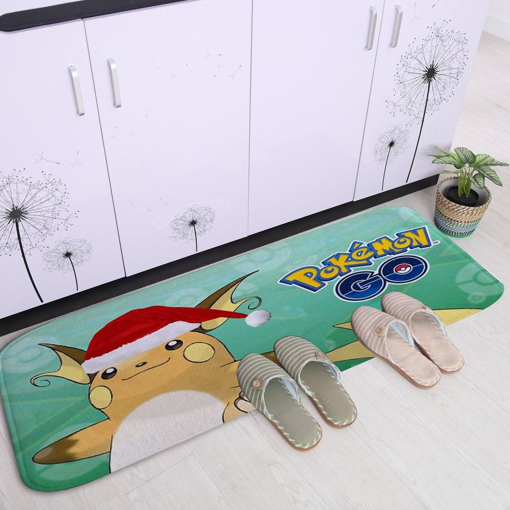 PEIYUAN Digital Printing Snowflake and Snowman Flannel Doormat ...