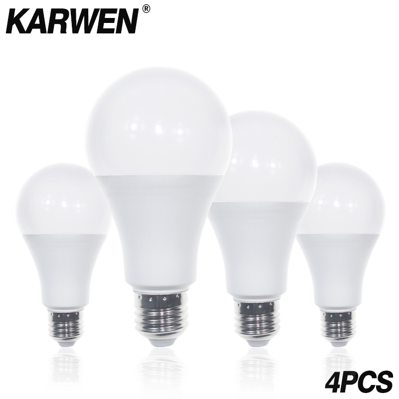 Lights & Lighting Karwen 4pcs Ampoule Led Bulb E27 Lamp 3w 5w 7w 9w 12w 15w 18w Lampada Led 220v 230v 240v Smd283 Bombilla High Quality Led Light Fine Quality