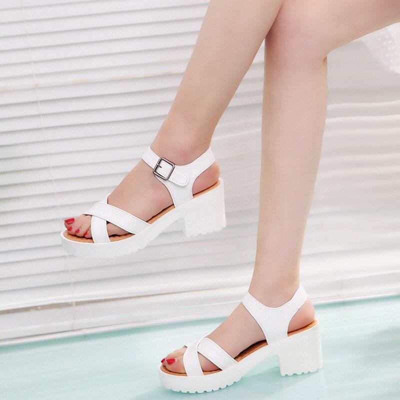 Women Platform Sandals Plus Size 45 Gladiator Woman Open Toe Shoes Summer Style