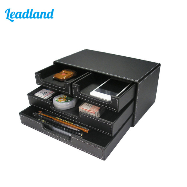 3 Layers 4 Drawers File Cabinet Document Tray Stationery