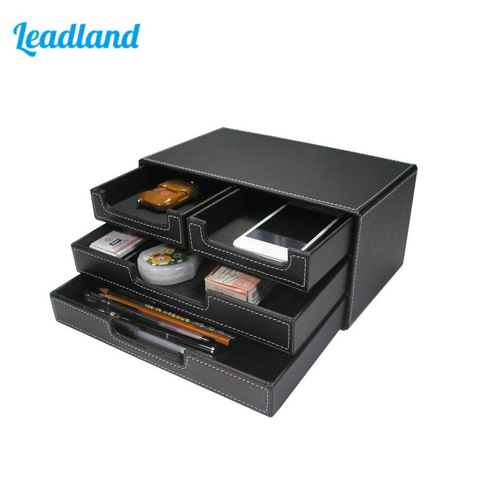 3 couches 4 tiroirs classeur Document plateau papeterie organisateur boîte de rangement
