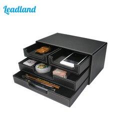 Archivador con 4 cajones de 3 capas, bandeja para documentos, organizador de escritorio de papelería, caja de almacenamiento