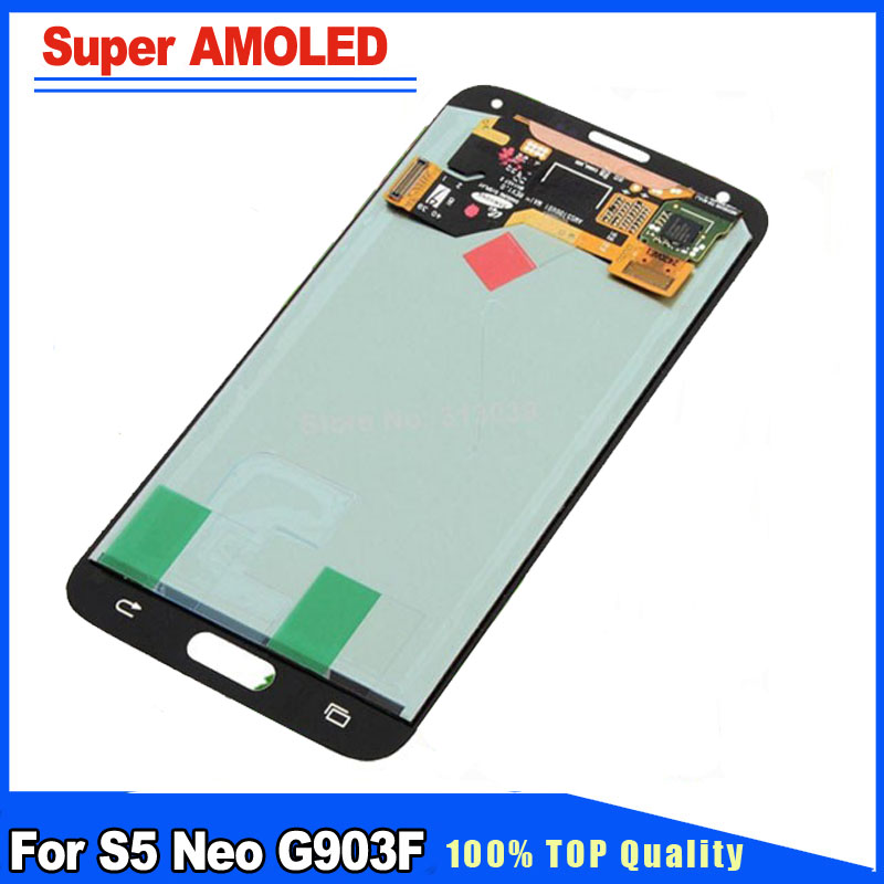 Super AMOLED Quality Black/Silver/Gold Color LCD Display+Touch Screen Digitizer Full Assembly For Samsung Galaxy S5 Neo G903FSuper AMOLED Quality Black/Silver/Gold Color LCD Display+Touch Screen Digitizer Full Assembly For Samsung Galaxy S5 Neo G903F