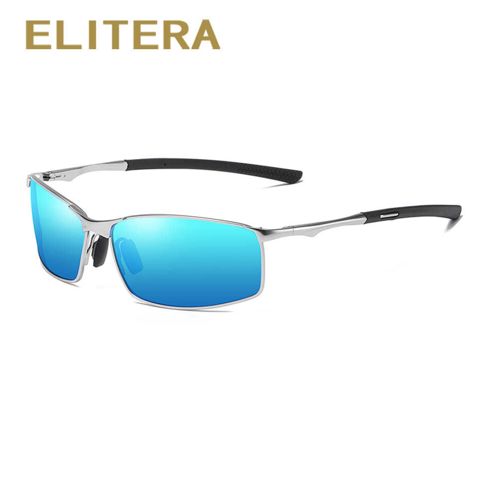 Image 2 - Elitera masculino clássico polarizado óculos de sol liga pernas esportes ao ar livre luz 100% óculos de proteção uvÓculos de sol   -