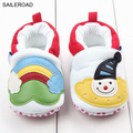Snowman PatternToddler Infants Baby Shoes Girls Spring Autumn Baby Kids Girls Shoes For Bebe First Wallers Shoes SAILEROAD