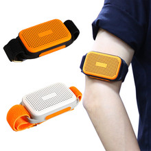 Mini Sports Bluetooth Speaker Watch Style Wearable Wireless Music Player Support TF Card, Selfie, Handsfree Call with Wristband