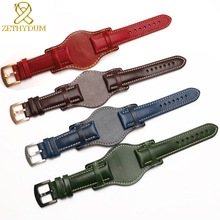 Genuine leather bracelet 18mm 20mm 22mm watch strap mens watchband With mat wristwatches band handmade leather bracelet carbon fiber particles watchband 18mm 20mm 22mm 24mmblack waterproof red stitching with genuine leather inner watch band strap