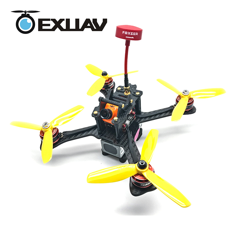 EXUAV GEP-TX5 210 RC FPV Racing Drone Packages with Camera 210MM Wheelbase Carbon Fiber Frame Kit X Structure Quad For DIY Toys exuav y120s 120mm wheelbase fpv racing drone y4 type design carbon fiber frame flytower racing mini f4 for diy mini rc toys 270g