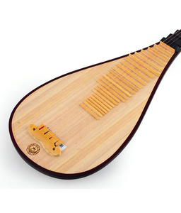 Image 5 - Chinese Lute Pipa National String Instrument Pi pa Children Playing Pipa Hard Wood Surface and Platane Wood Back Bone Flowers