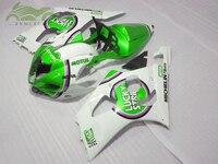 Custom Fairing kits for Suzuki K3 K4 GSXR1000 2003 2004 motorcycle sport fairings 03 04 GSXR1000 green white aftermarket BD31