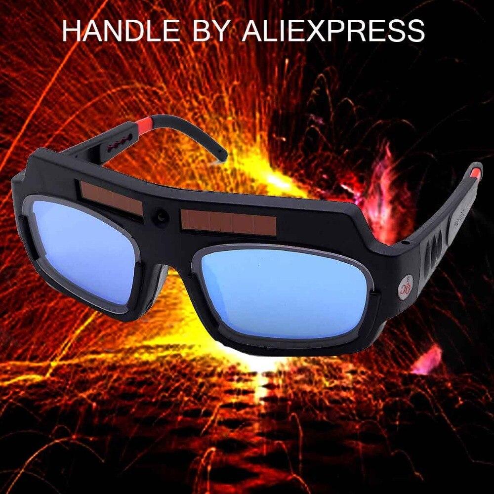 Vedere HD Video All'interno! Solar Powered Auto Oscuramento Casco di Saldatura Maschera di Saldatura di Saldatura Vetro Occhiali