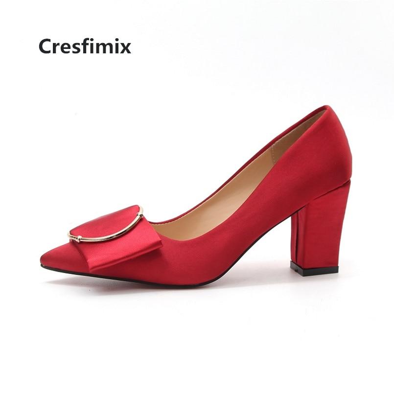 De X Cómodos Dama Tacón z Informales Boda Zapatos Mujer Para Rojos  Cresfimix Negros Altos Tacones Alto Calle C3205 y 5xYapwzR ec68c0fd79c0f
